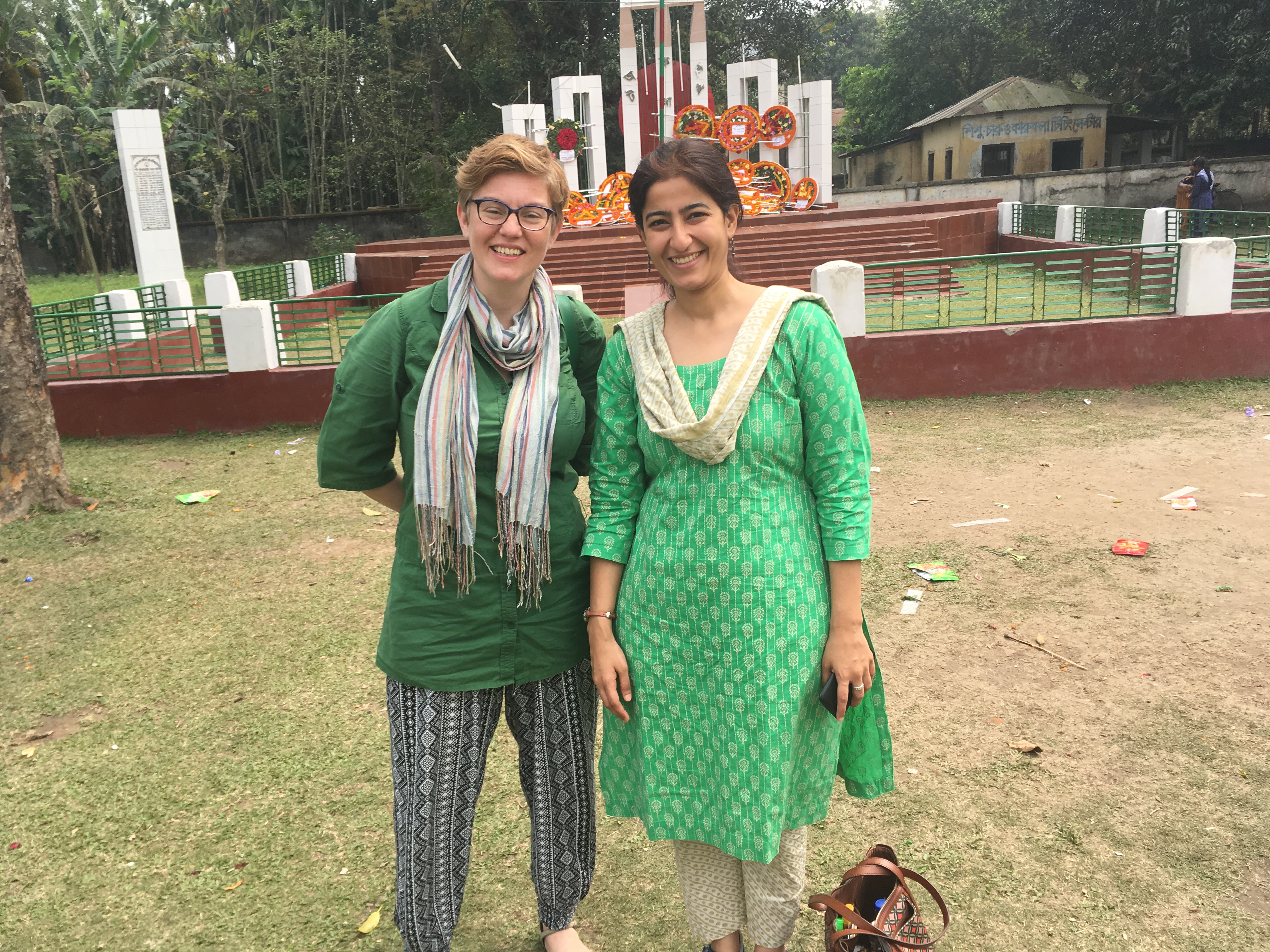 GSI's Shruti Sharma and Laura Merrill in Bangladesh, March 2017