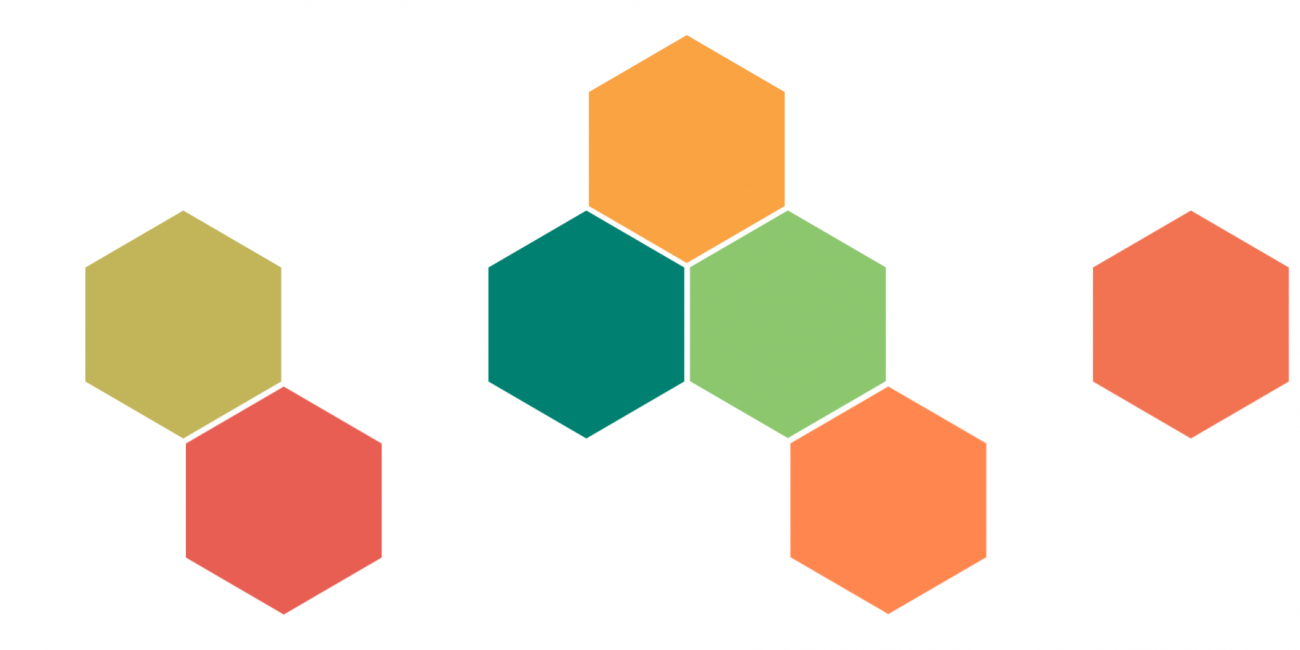 sequence of hexagon shapes representing g7 countries