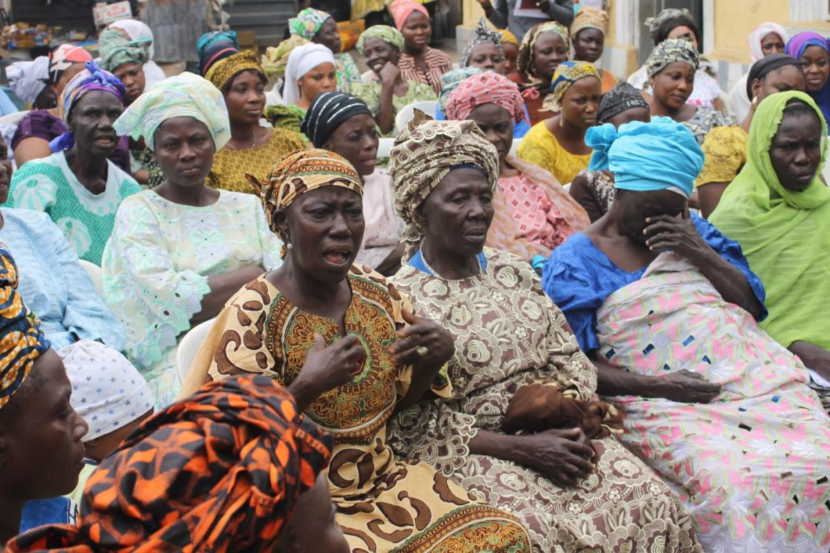 Women in a focus group, nigeria