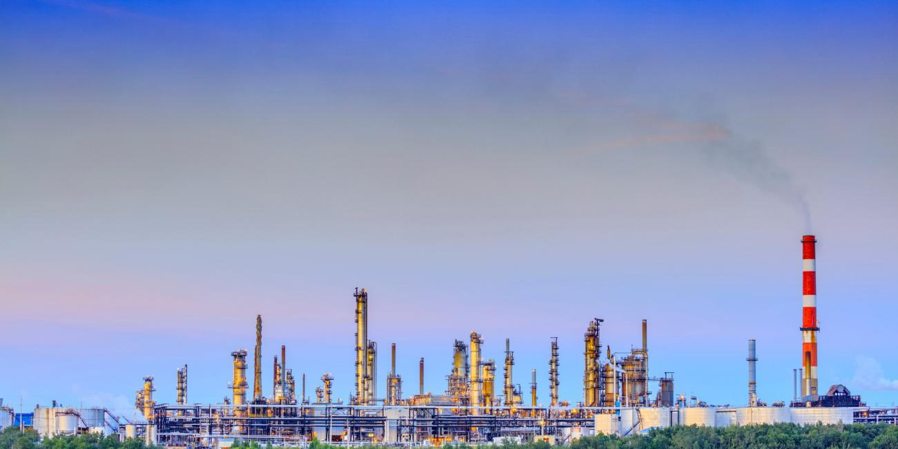 An oil refinery in Edmonton, Alberta