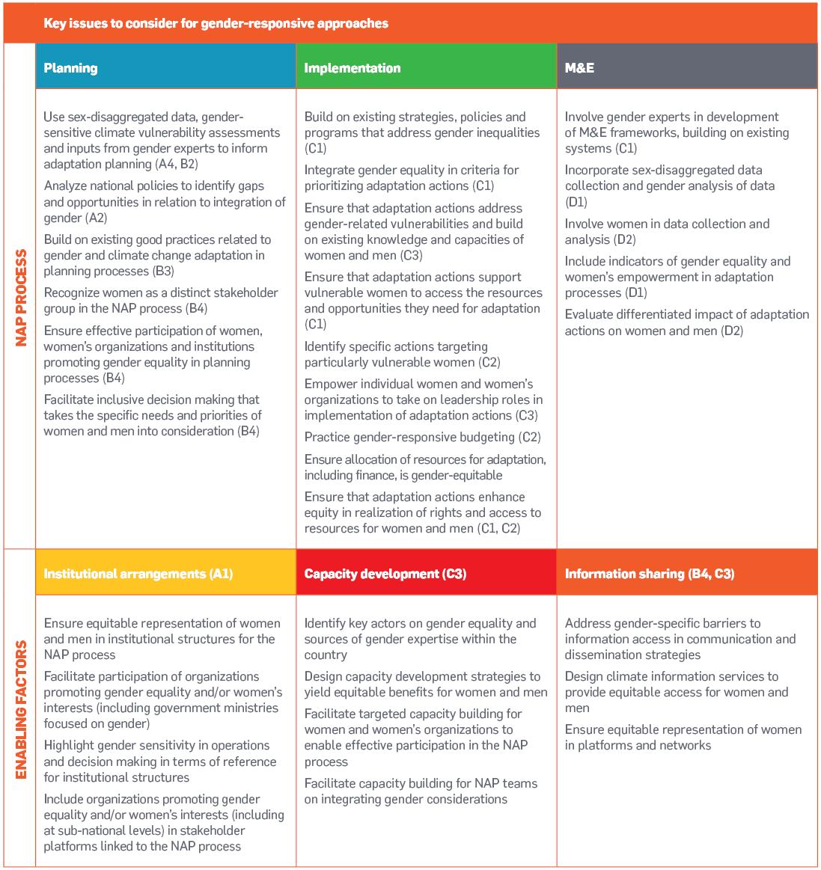 A Framework for Gender-Responsive National Adaptation Plan