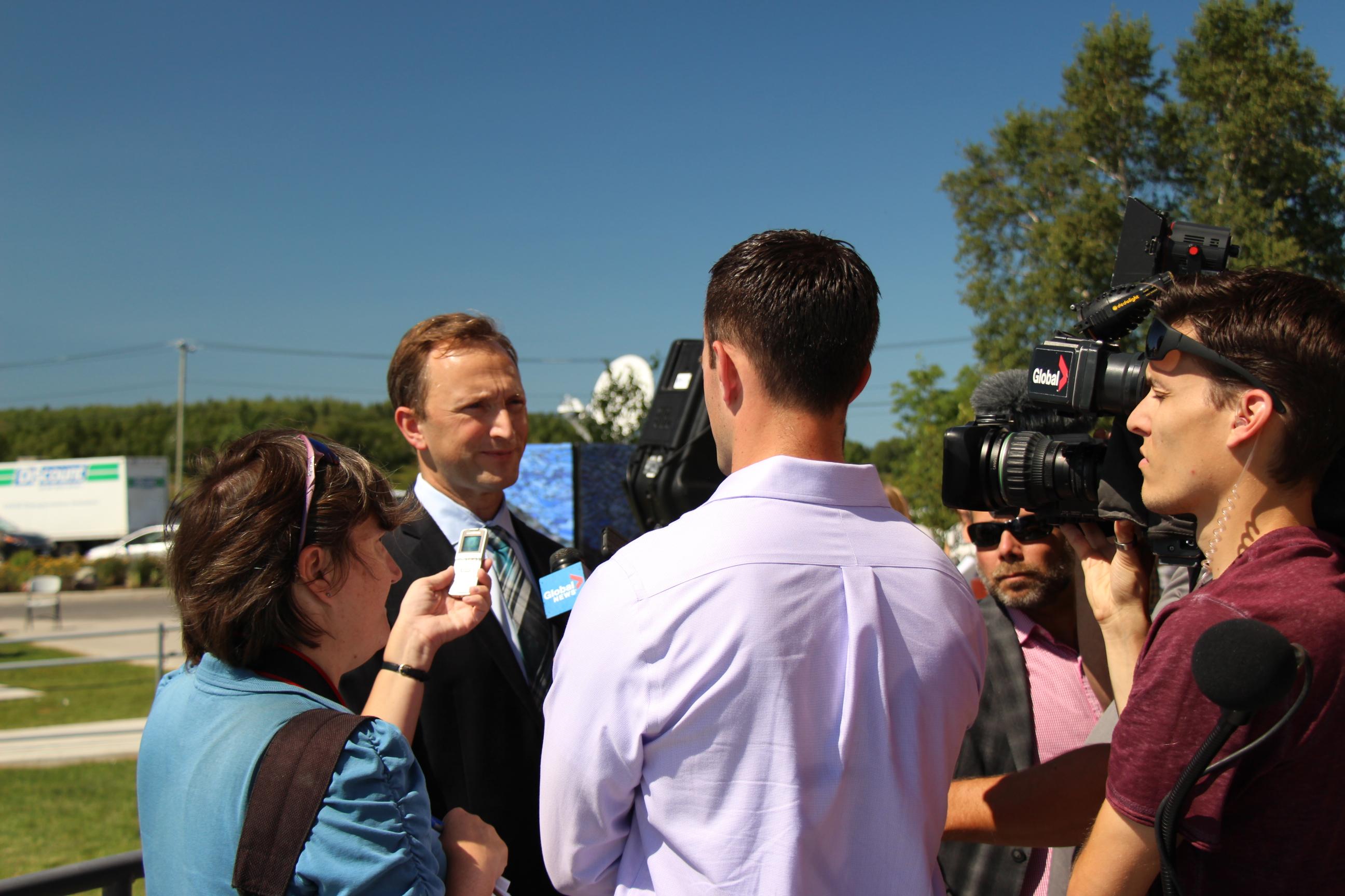 IISD-ELA ED Matt McCandless speaks to journalists about the new era of IISD-ELA