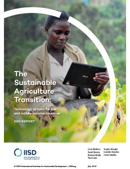 The Sustainable Agriculture Transition: Technology options for low- and middle-income countries cover