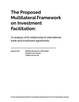 The Proposed Multilateral Framework on Investment Facilitation report cover