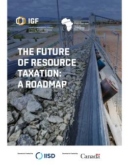 Cover of The Future of Resource Taxation: A roadmap