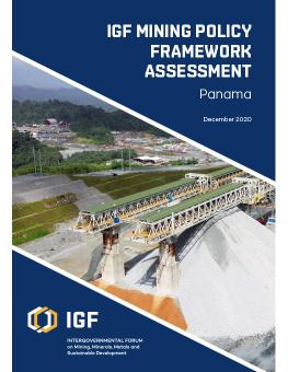 IGF Mining Policy Framework Assessment: Panama cover