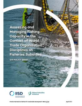 Managing Fishing Capacity in the Context of World Trade Organization Disciplines on Fisheries Subsidies cover