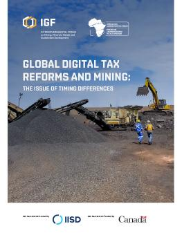Global Digital Tax Reforms and Mining: The issue of timing differences