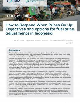 How To Respond When Prices Go Up Objectives And Options For Fuel Price Adjustments In Indonesia International Institute For Sustainable Development