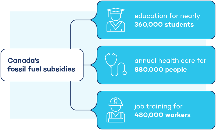 Graphic outlining what Canada's subsidies could be paying for instead