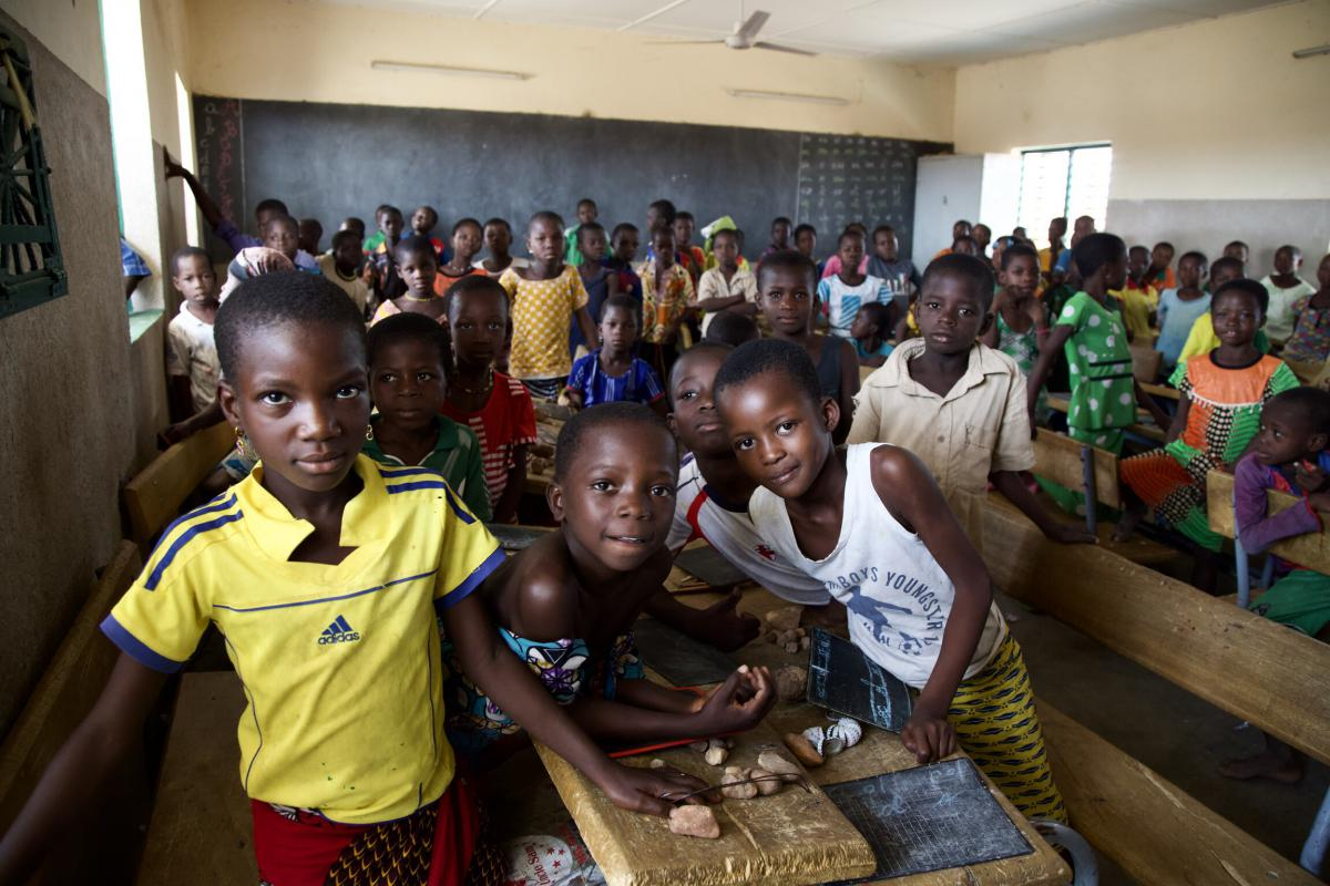 Primary school students in Burkina Faso