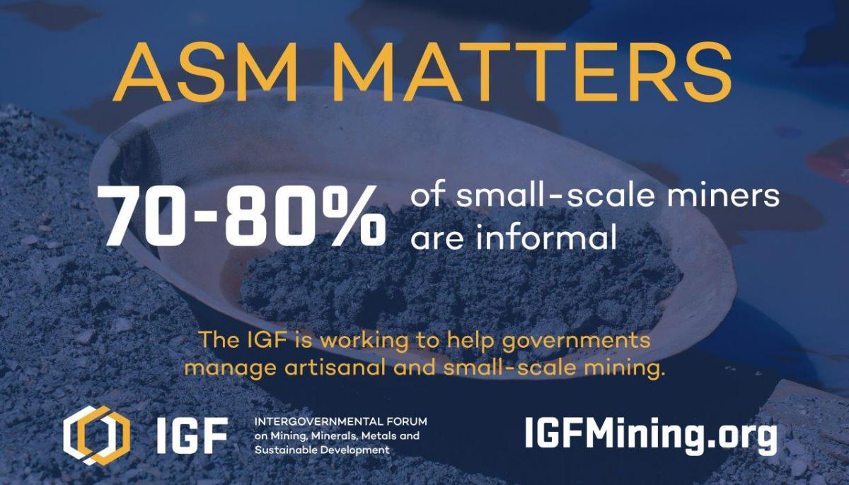 Infographic revealing 70-80% of small-scale miners are informal
