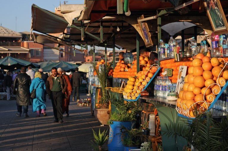 Fruit markets in Morocco