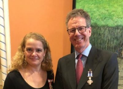 Mike Paterson Receives Canada's Meritorious Service Cross