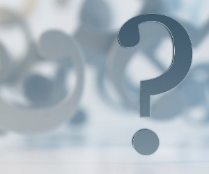 Aluminium question mark soft DOF