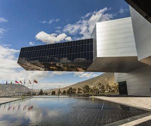 POMASQUI, ECUADOR - APRIL 15:  Building UNASUR, Union of South American Nations. It is one of the most modern buildings in the region, located close to half the world. April 15, 2015 in Pomasqui, Ecuador