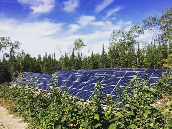 Solar panels at Falcon Trails resort, part of its climate action plan